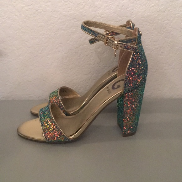 3a89422bc7f Brand New G by Guess Mermaid Glitter Heels